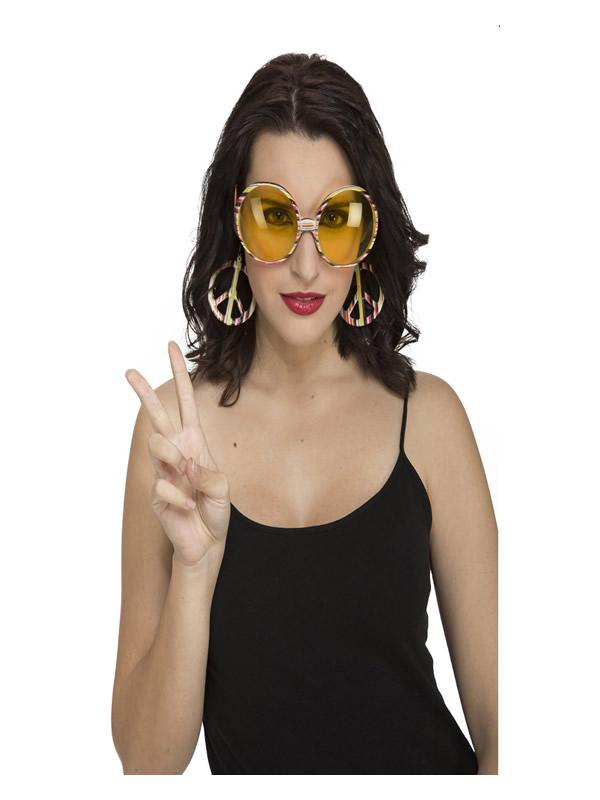 pack de 3 gafas redondas de hippie adulto