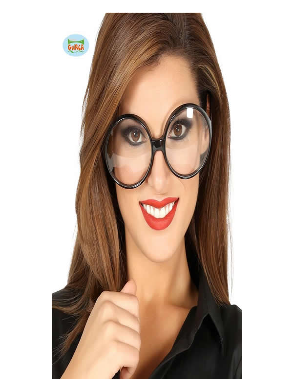 gafas redondas de secretaria