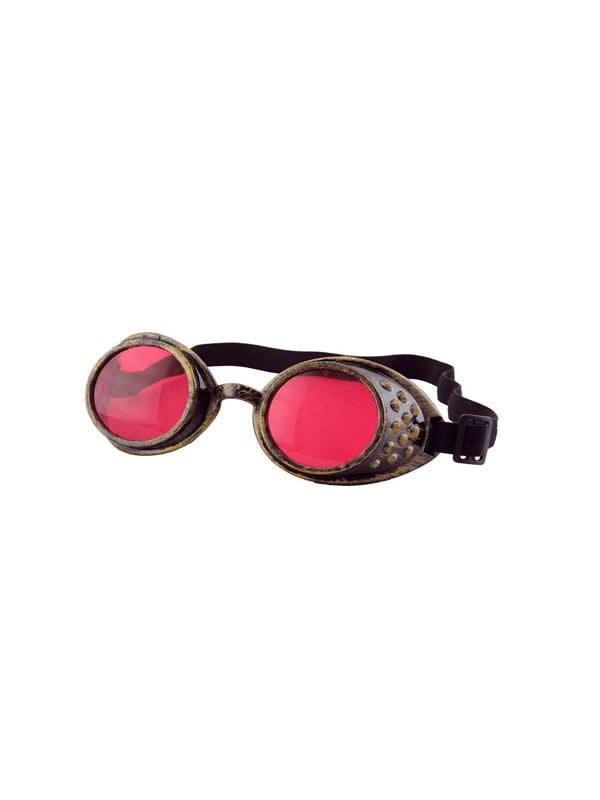 gafas steampunk rojas