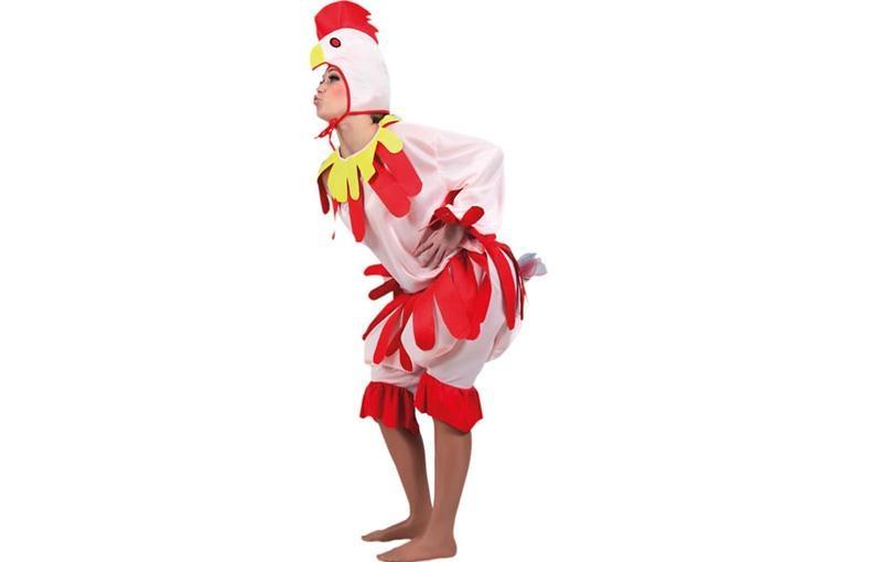 disfraz de gallina rosa para mujer