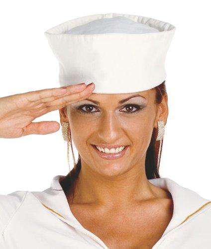 gorra de marinero blanca adulto