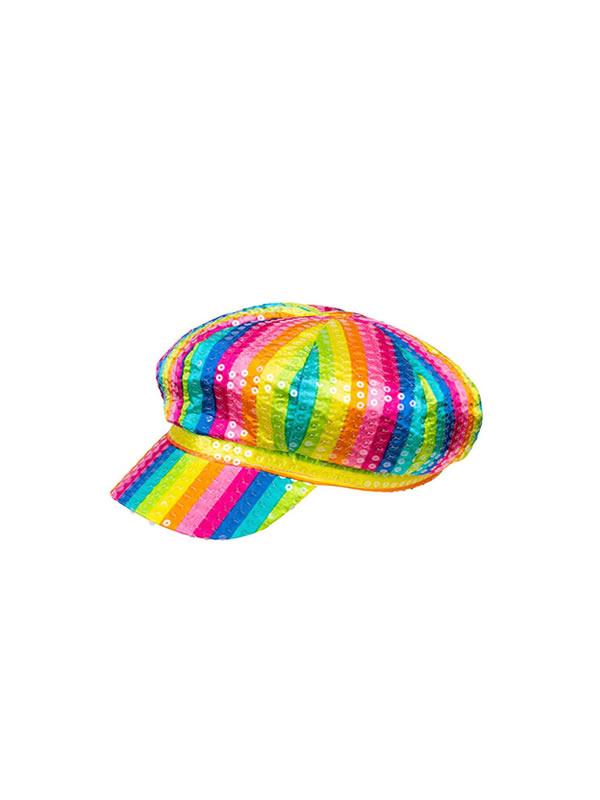 gorra multicolor lentejuelas