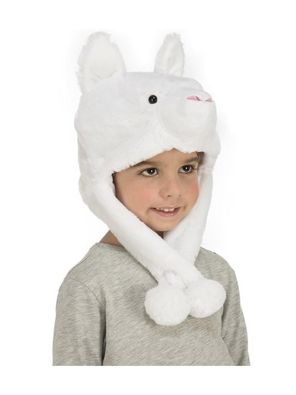 gorrito de oso polar infantil