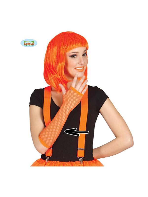 guante de malla naranja neon 26 cms punky