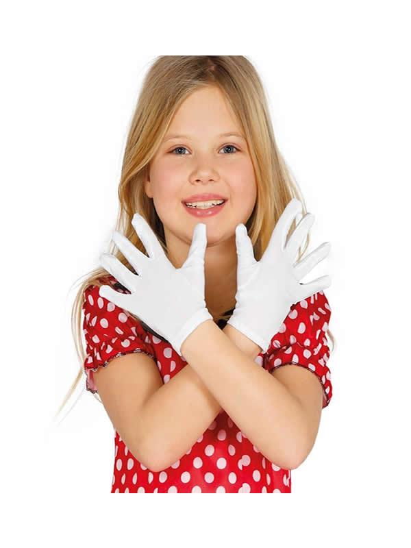 guantes blanco 22 cms infantiles