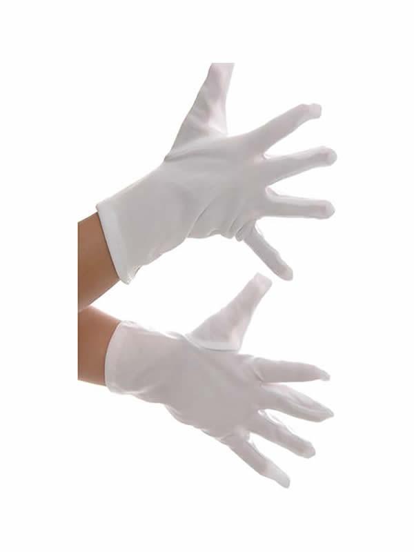 guantes blancos 18 cm infantiles