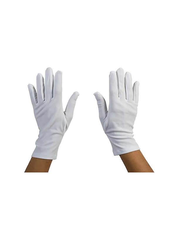 guantes blancos 25 cm cortos