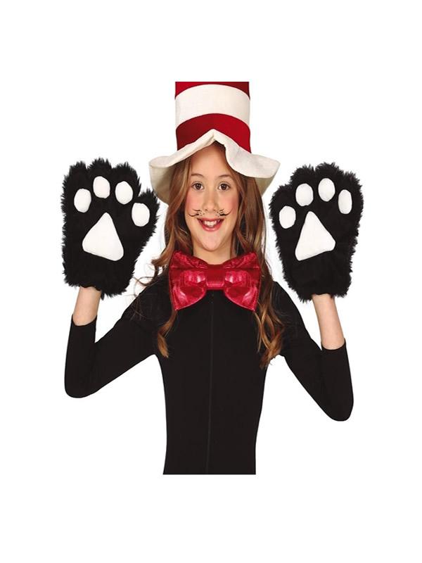 guantes de gato negros