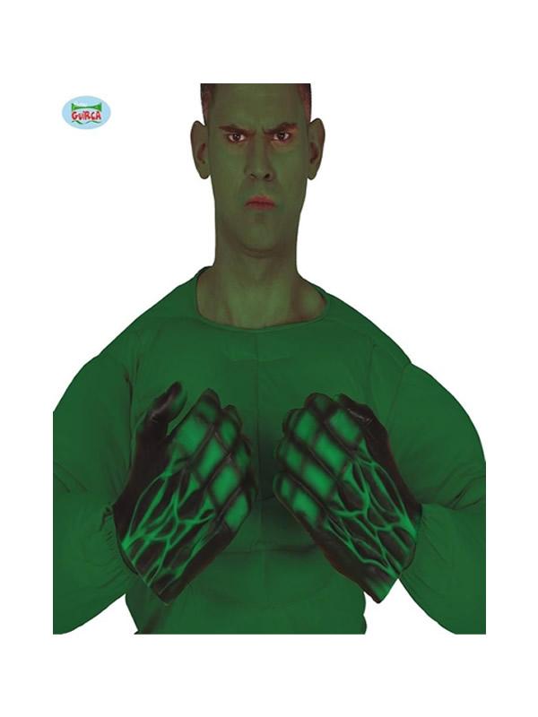guantes de monstruo verde latex