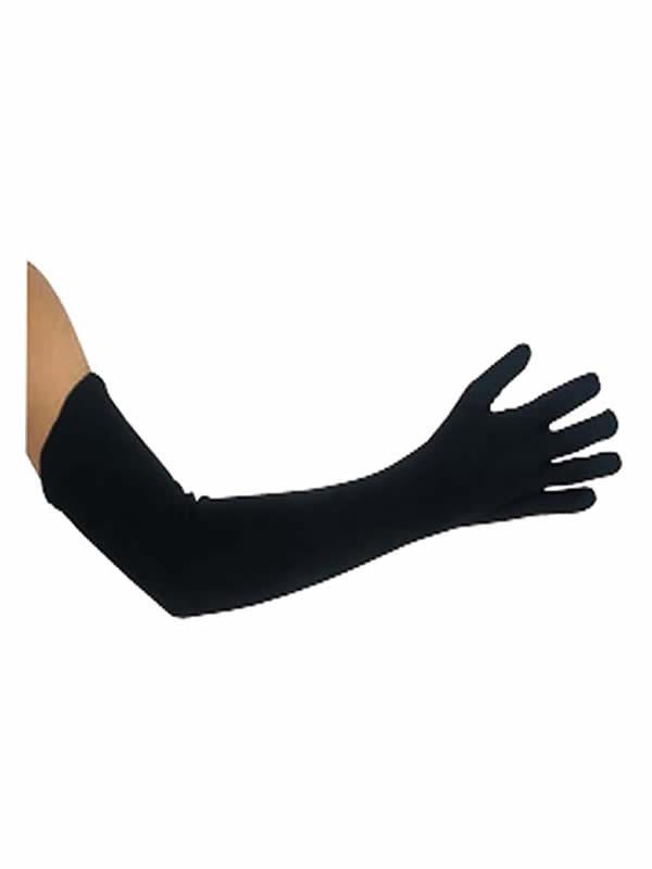 guantes negros 45 cm largos extras