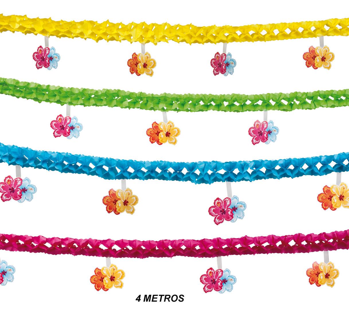 guirnaldas flores colores metros para fiestas
