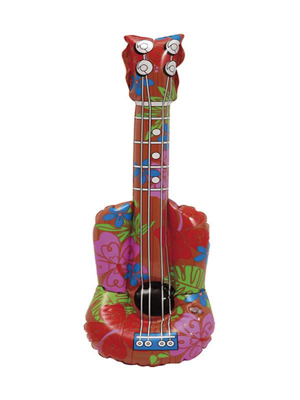 guitarra hawaiana flores hinchable 60 cm