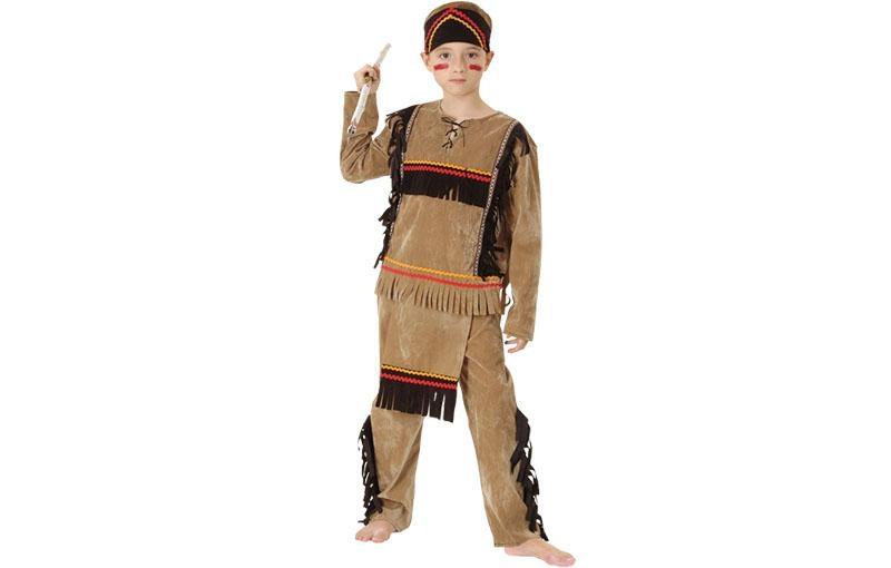 disfraz indio apache barato para niño
