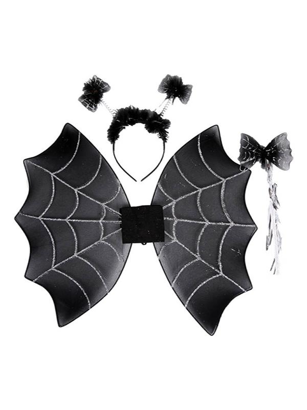kit de araña infantil tiara varita y alas de 47x39 cm