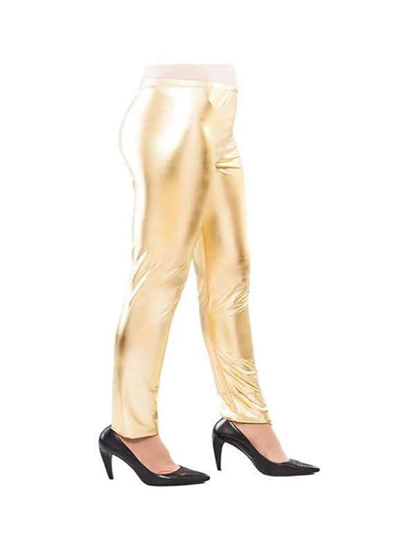leggins brillantes oro adulto