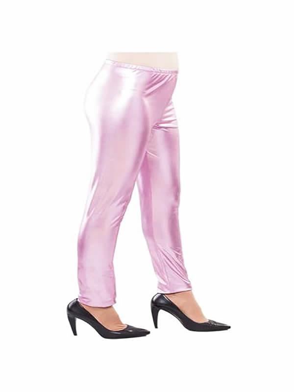 leggins brillantes rosa adulto