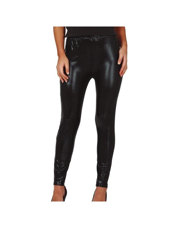 leggins metalizados negro