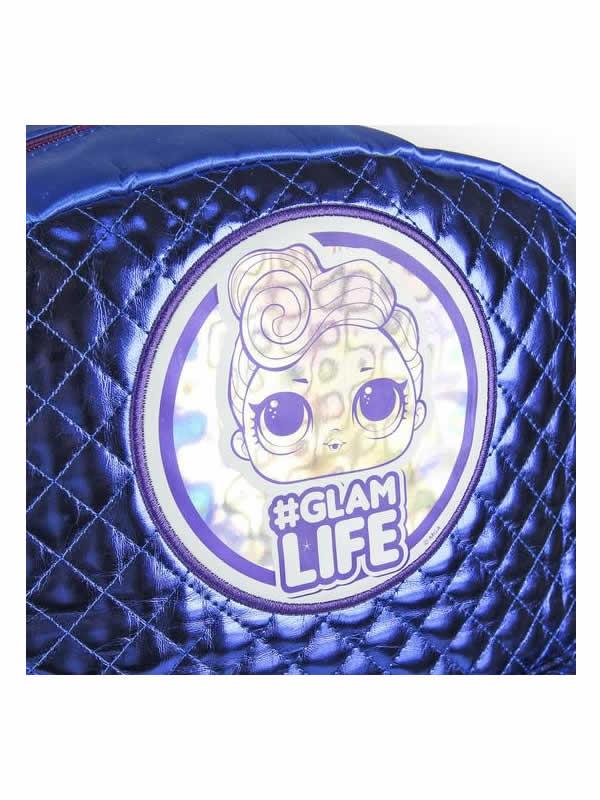 mochila azul metalizada casual de las lol 4