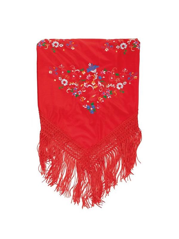 manton de sevillana rojo 160 x 885 cm