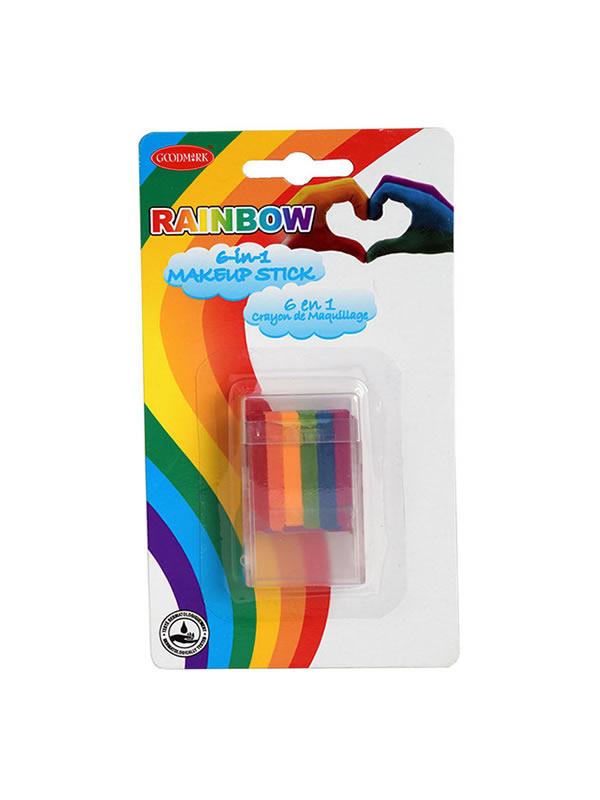 maquillaje arco iris en barra
