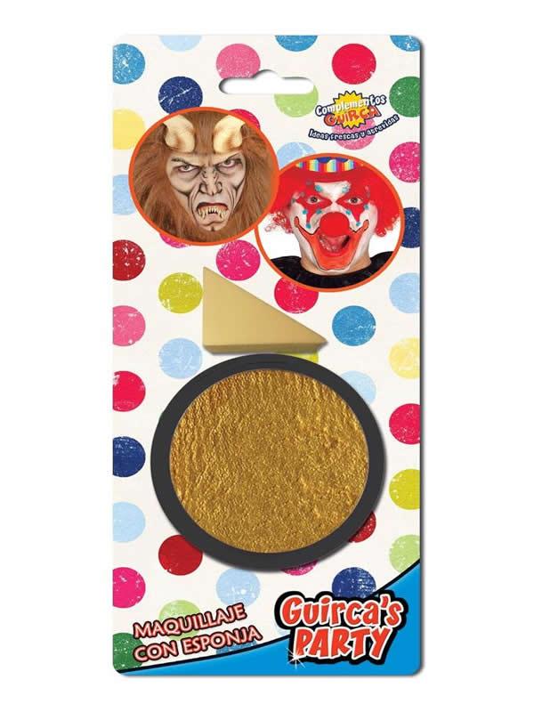 maquillaje oro con esponja