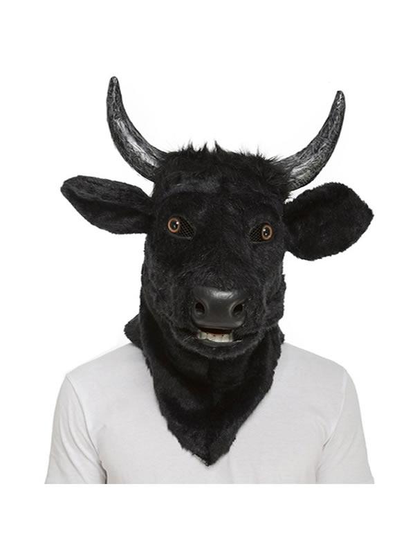 mascara con mandibula movil de toro