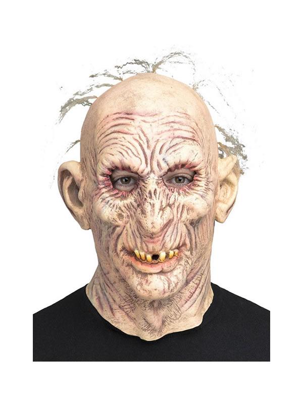 mascara de anciano zombie