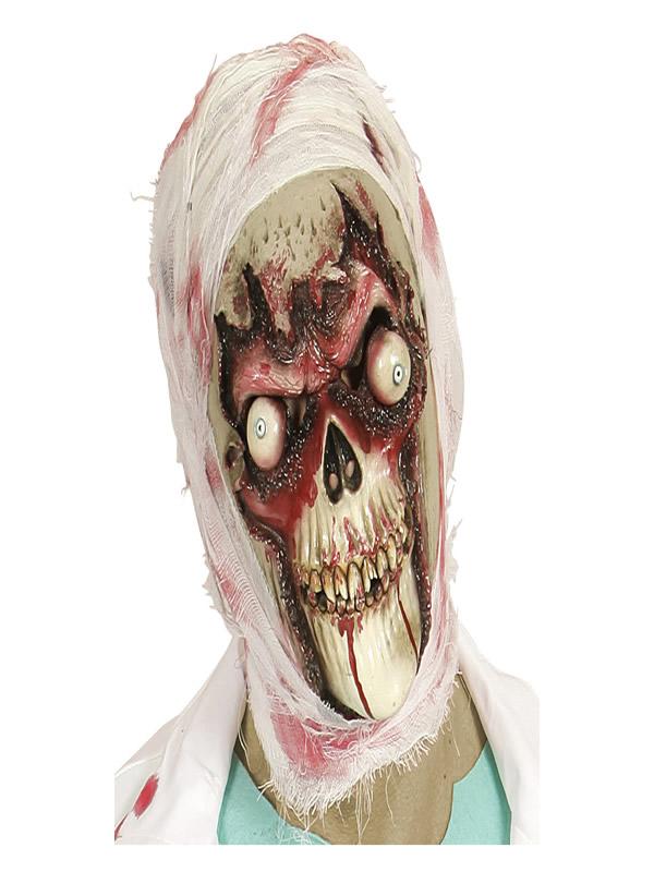 mascara de calavera zombie de ojos saltones adulto
