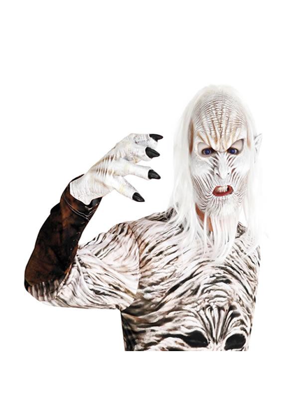 mascara de caminante viejo blanco