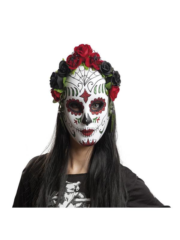 mascara de catrina con flores