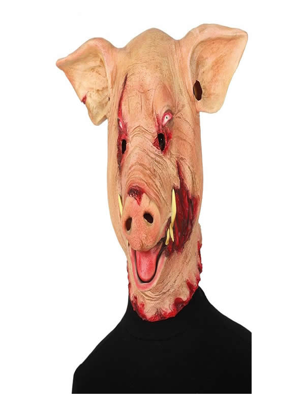 mascara de cerdo saw latex hombre