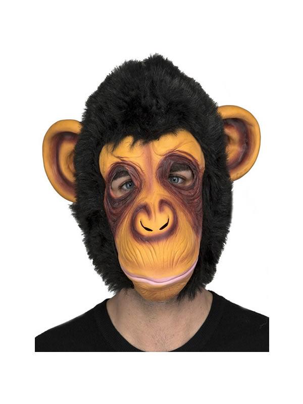 mascara de chimpance con pelo