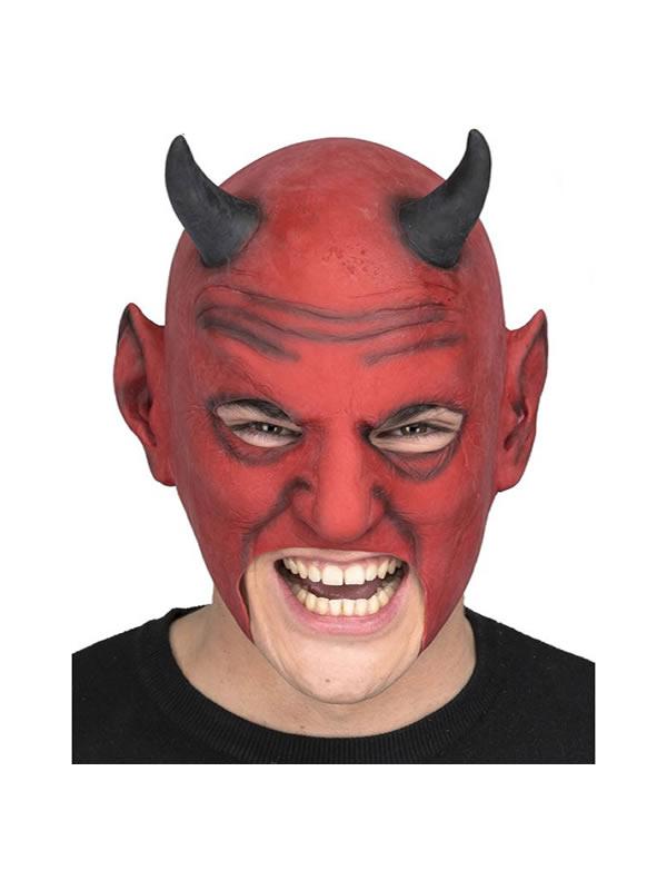 mascara de demonio roja con cuernos