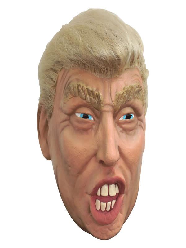 mascara de donald trump con pelo adulto