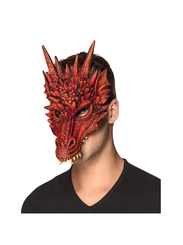 mascara de dragon rojo adulto