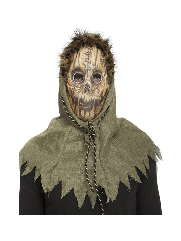mascara de espantapajaros terrorifico