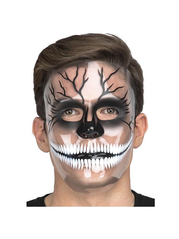 mascara de esqueleto transparente