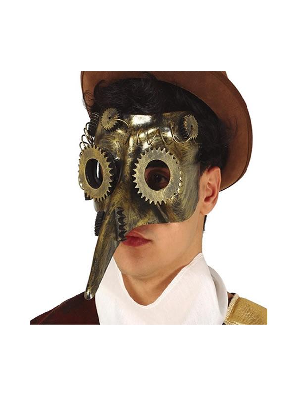 mascara de la peste steampunk pvc adulto