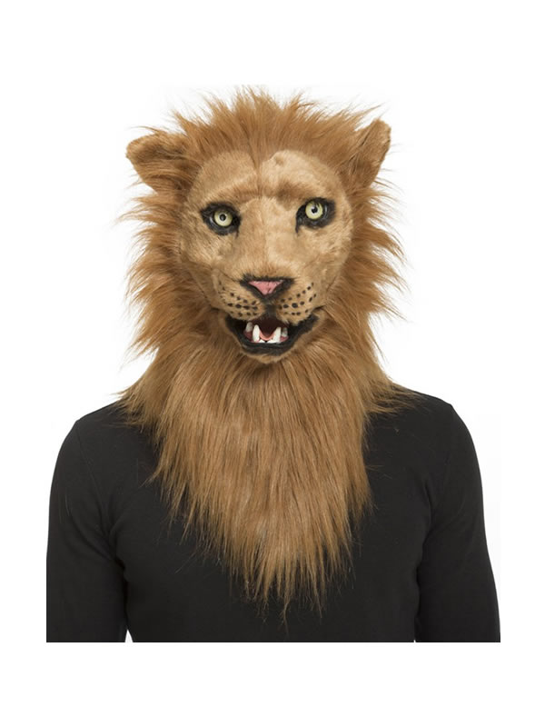 mascara de leon con mandibula movil