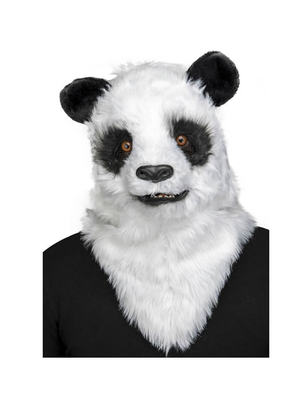 mascara de oso panda con movimiento de mandibula
