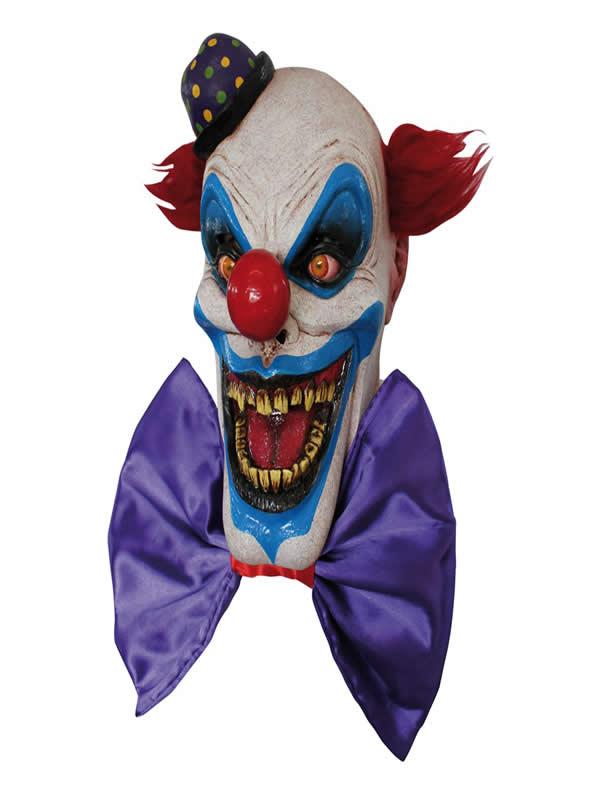 mascara de payaso chompo con pajarita halloween