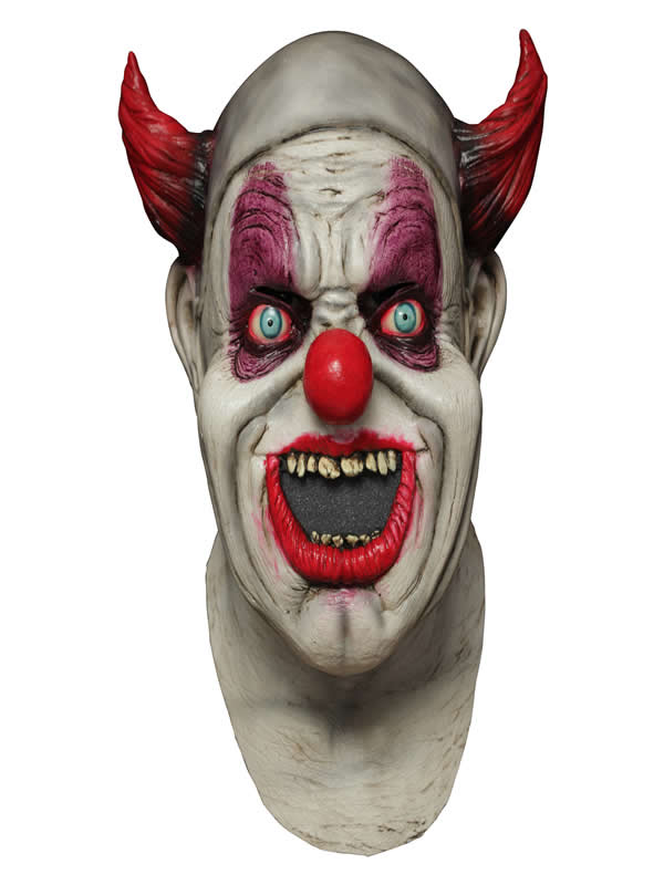 mascara de payaso digital maggot latex adulto