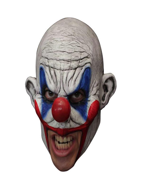 mascara de payaso enfandado de latex adulto