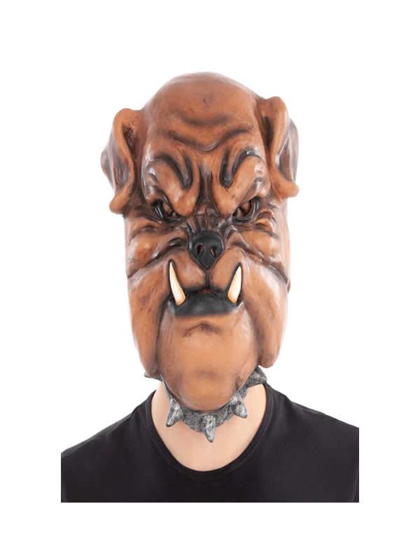 mascara de perro boxer completa latex