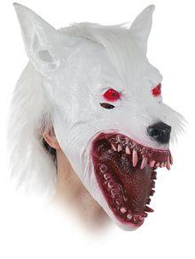 mascara lobo blanco adulto