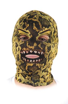 mascara lycra serpiente