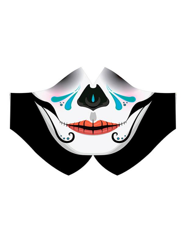 mascarilla de catrina boca para halloween