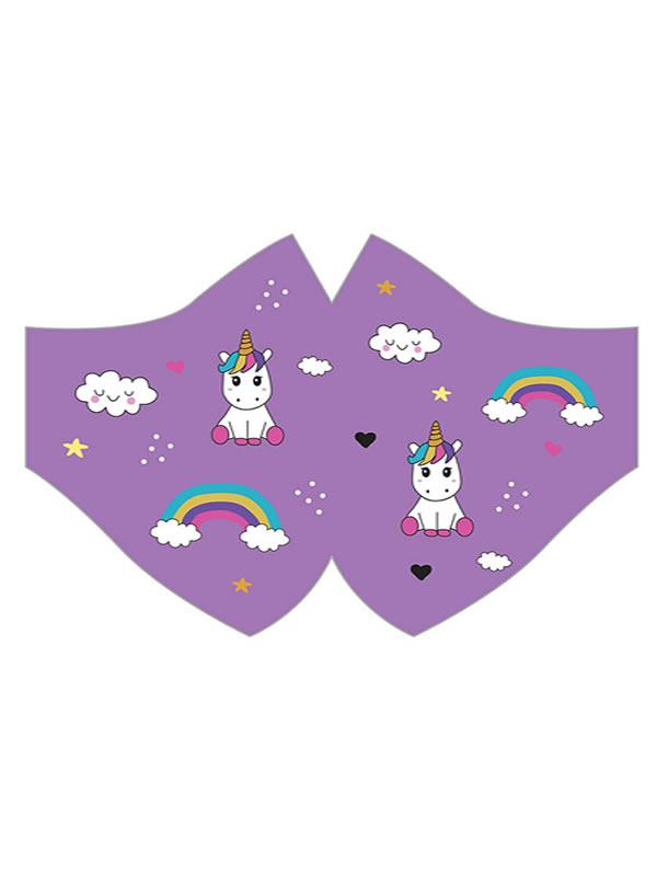 mascarilla de unicornios lila hidrofuga