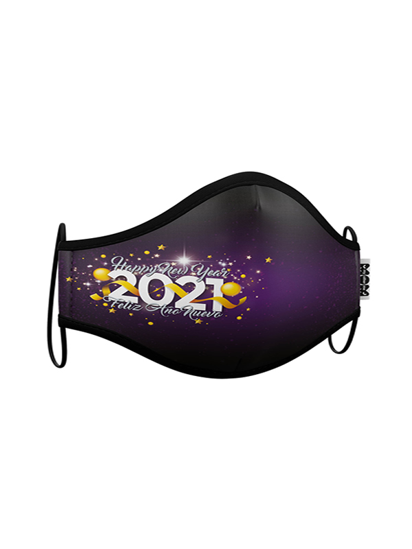 mascarilla feliz año 2021 reutilizable