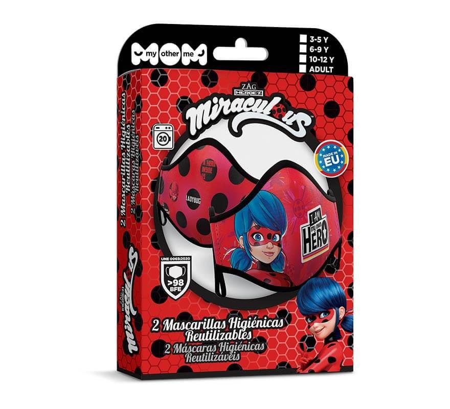 mascarilla higienica ladybug pack de 2 infantil 4
